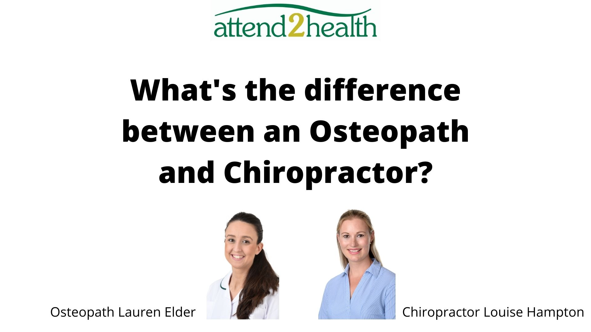 What's the difference between an Osteopath and Chiropractor?